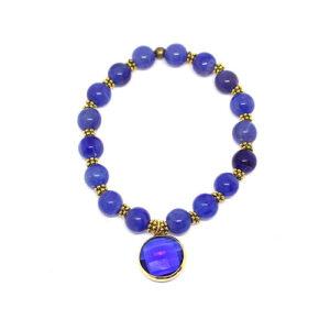 Bracelet perles de verre/pierre VAJRA