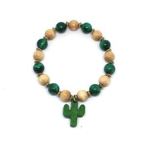 Bracelet bois et pierres WILDWEST