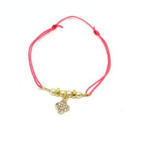 Bracelet coulissant perles verre nacré FLOWER POWER
